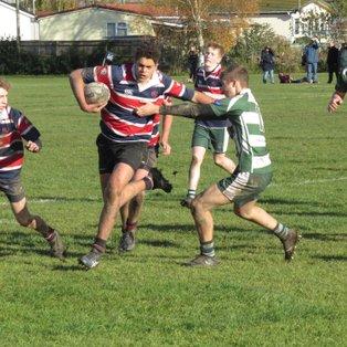 U16 narrowly lose a tight match