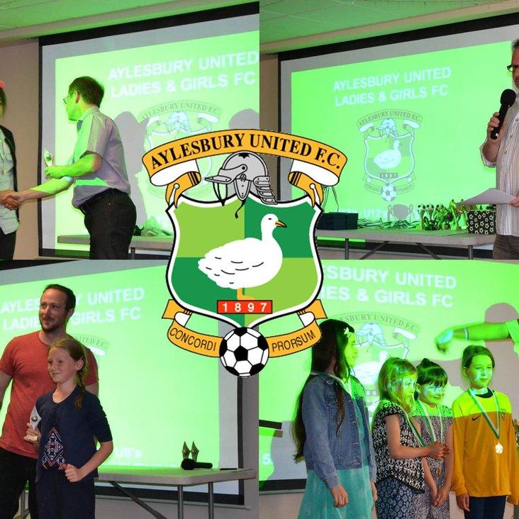 Aylesbury United Ladies &amp; Girls FC Presentation Evening – Saturday 6th May<