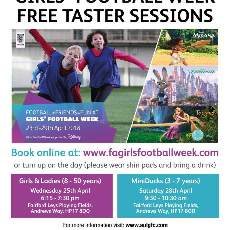 Football + Friends = Fun at Girls' Football Week