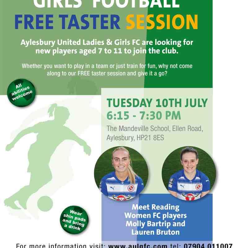 Girls' Football Taster Session July 2018