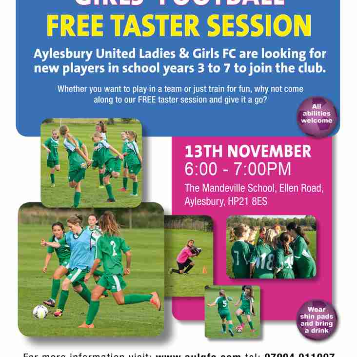 Free Girls' Football Taster Session