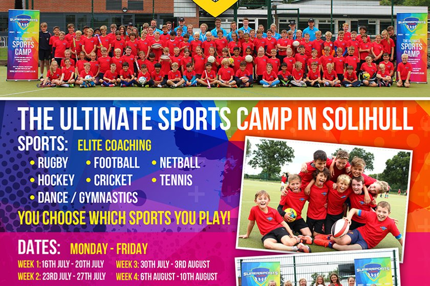 M&J's Super Sports Camps this Summer at Solihull School