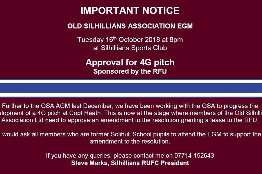 OSA  EGM - 16th Oct