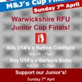 Junior Cup Finals this Sunday! - both our U15's & U14's