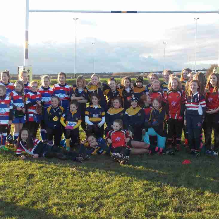 GOOLE GIRLS RUFC AT HOME TO OLD BRODLIANS 22ND NOV 2015