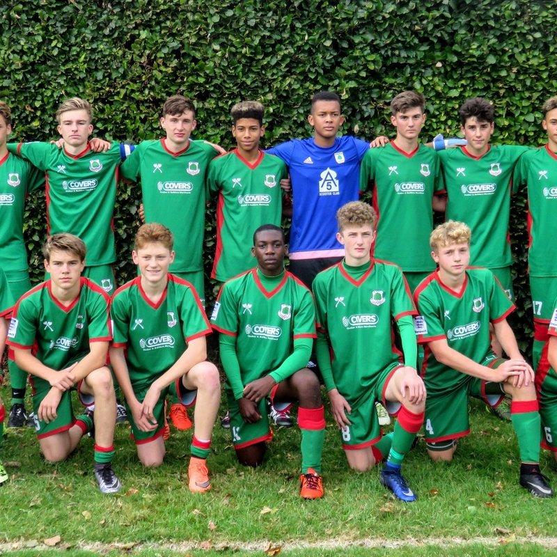 U16s lose to Fareham Town Youth U16's 4 - 0