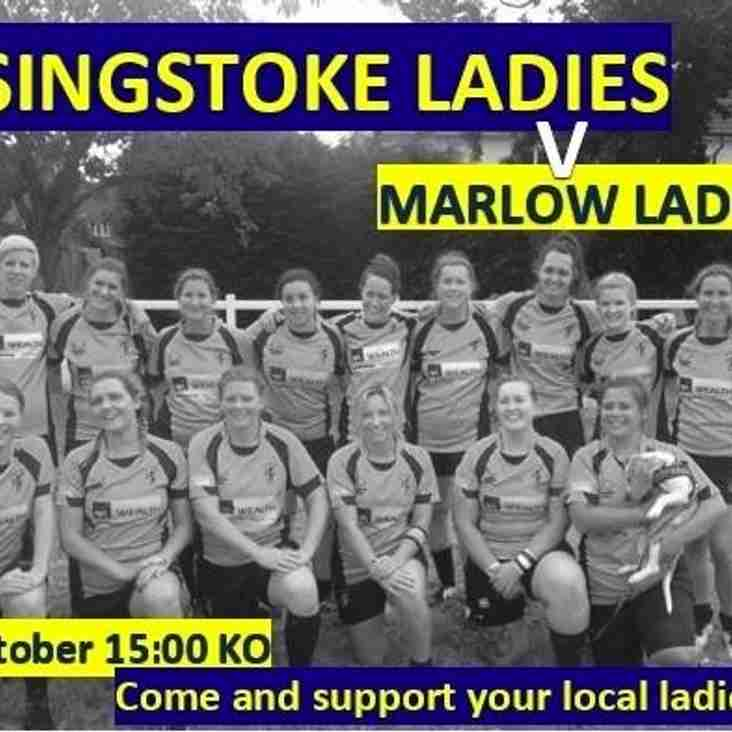 Ladies v Marlow, 3pm Sunday 16th October