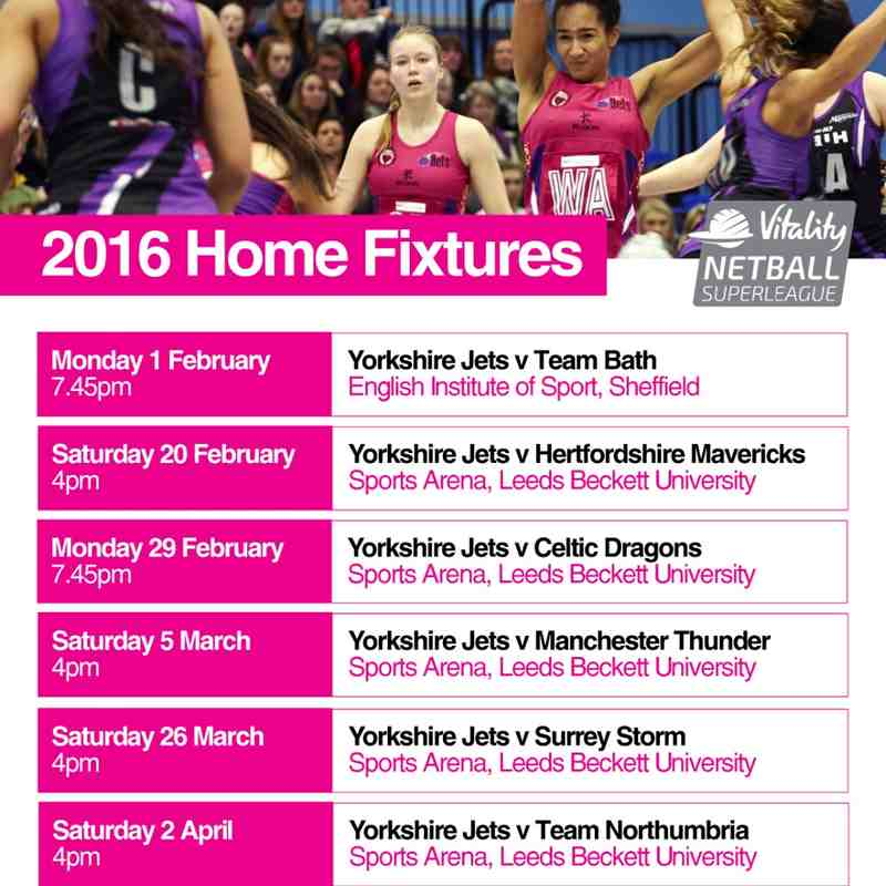 Yorkshire Jets home fixture
