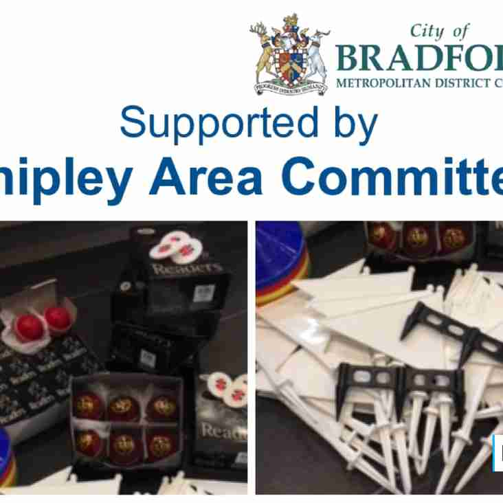 Junior Grant Received from Shipley Area Committee