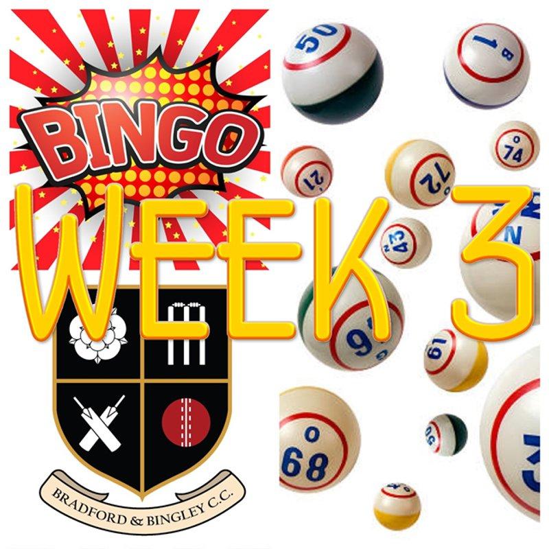 B&BCC Cricket Bingo Week 3