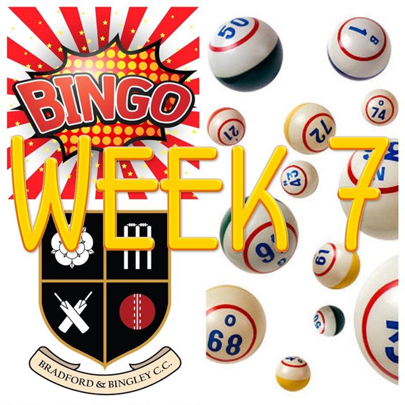 B&BCC Cricket Bingo Week 7