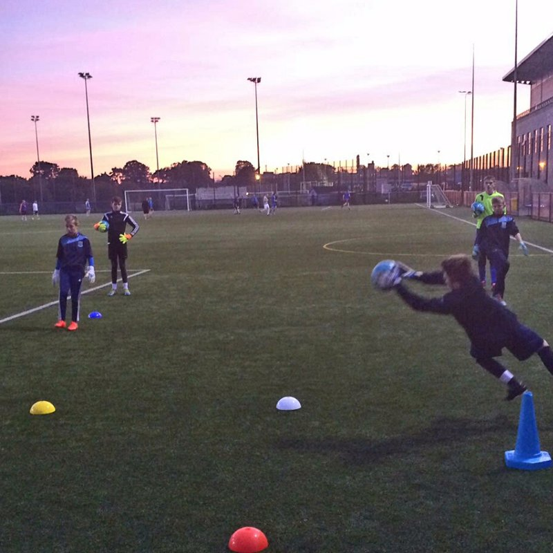 Goalkeepers enjoy special training
