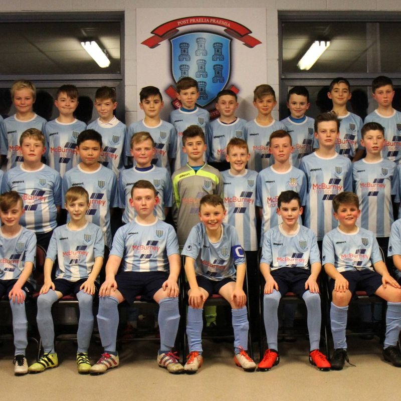 Goalkeeper Jamie Clarke on form for Under-12's in Coleraine