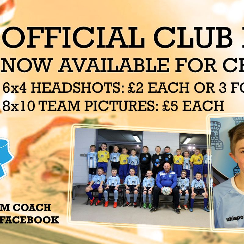 Official club photos now available