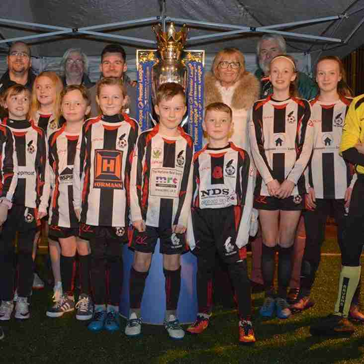 Premier League Trophy Visits Ravenettes Training