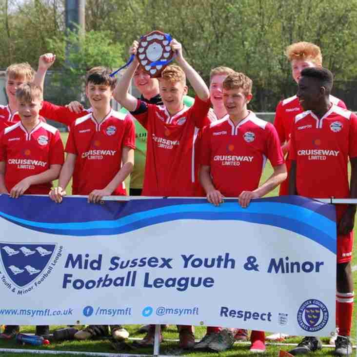 Crawley Down Gatwick U15's Win Mid Sussex Plate Final