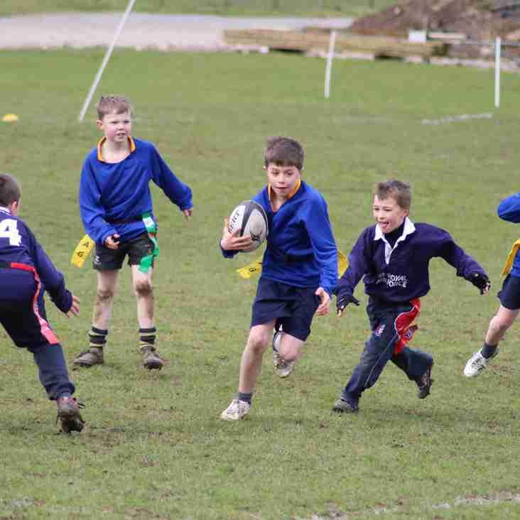 100 children taken part in tag rugby festival