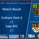 Yate RFC take on Cotham Park RFC.