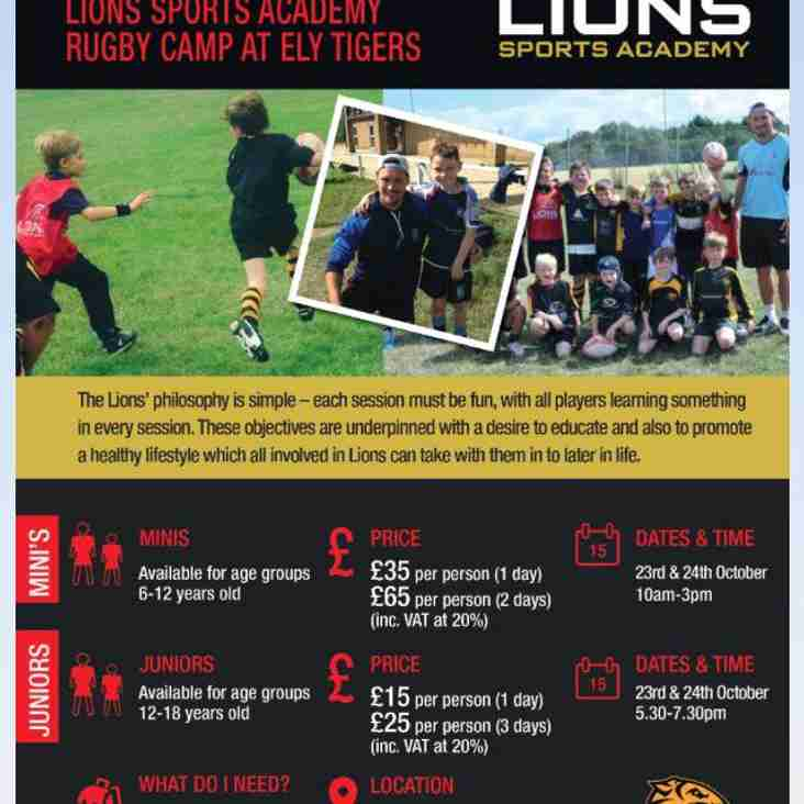 Lions Sports Academy return to Ely Tigers