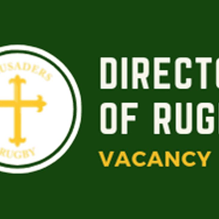 Director Of Rugby - Vacancy