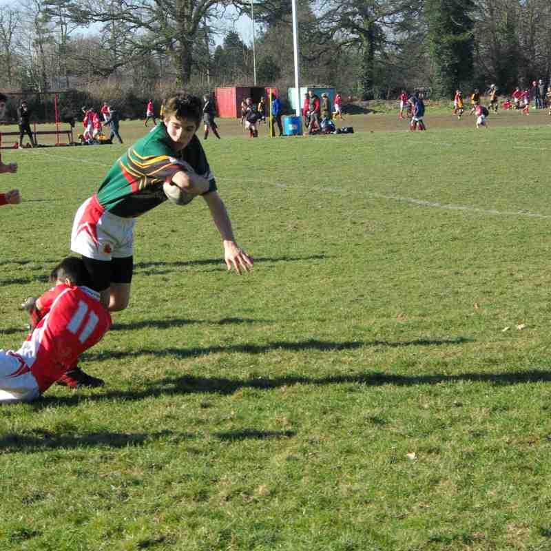 U14's Whitchurch vs Oswestry Home 25 February 2018