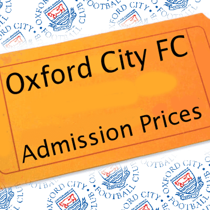 Admissions Prices and Season Ticket