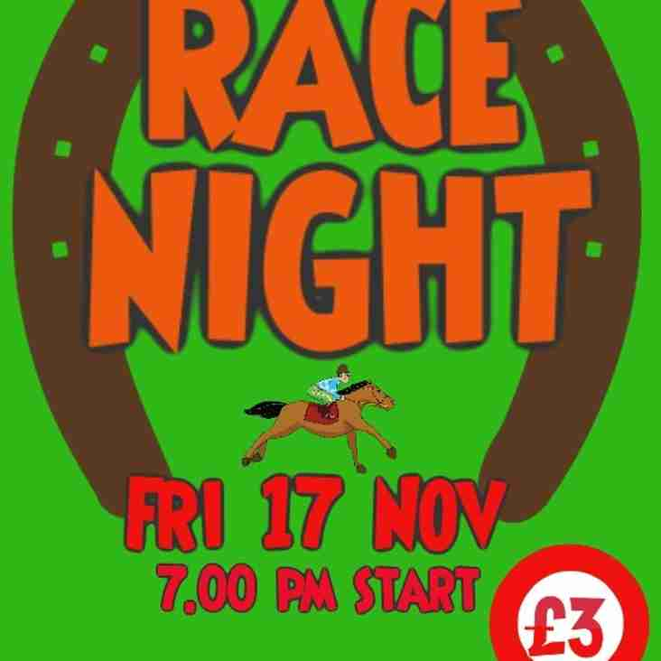Under 16's Race Night...