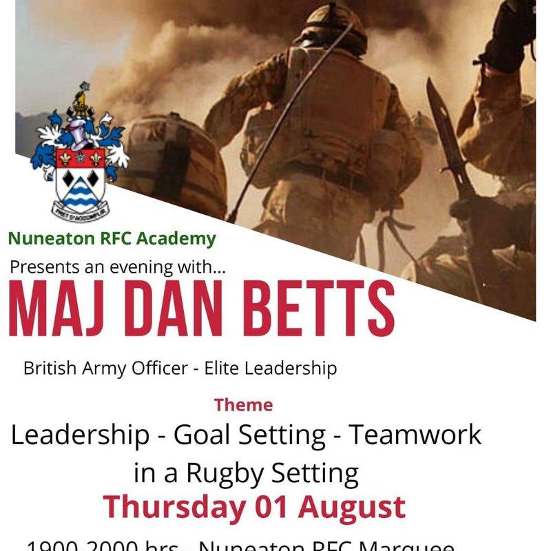 Elite Leadership presented by Major Dan Betts