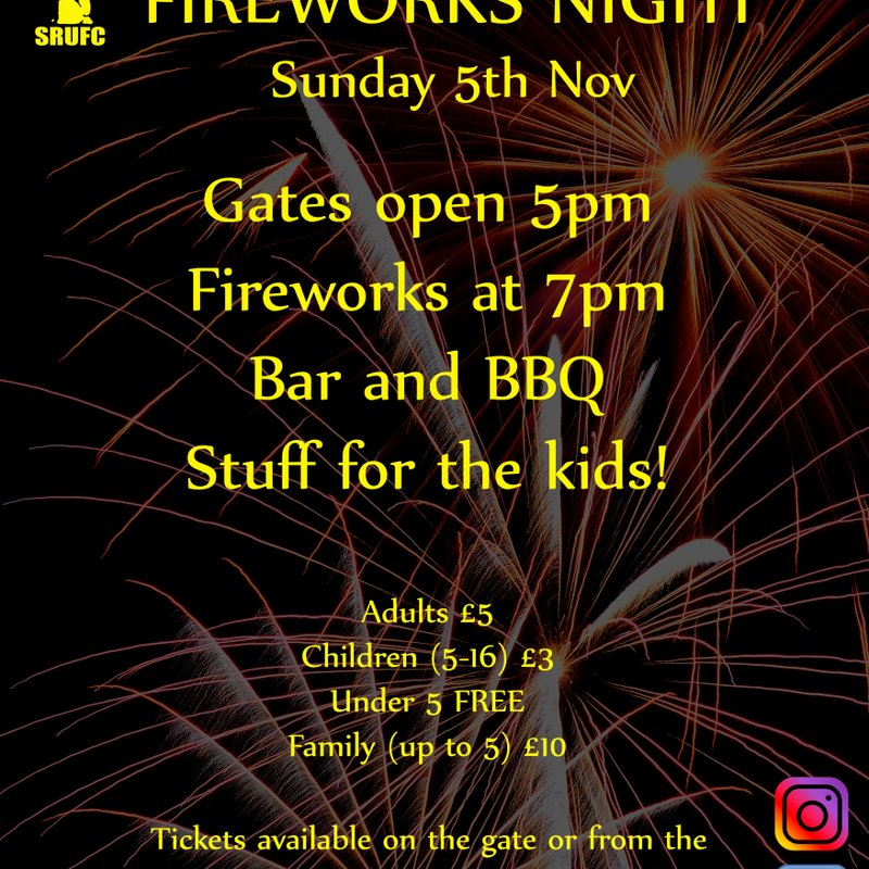 Annual Fireworks Display at Swaffham RUFC