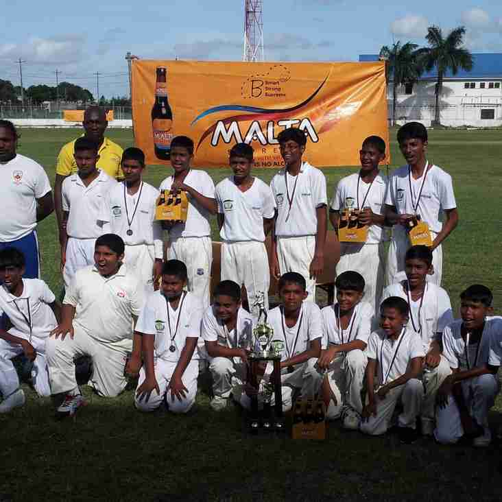 EVEREST CRICKET CLUB ARE WINNERS OF THE GCA - BANKS DIH MALTA SUPREME UNDER-13 CRICKET COMPETITION 2014-15