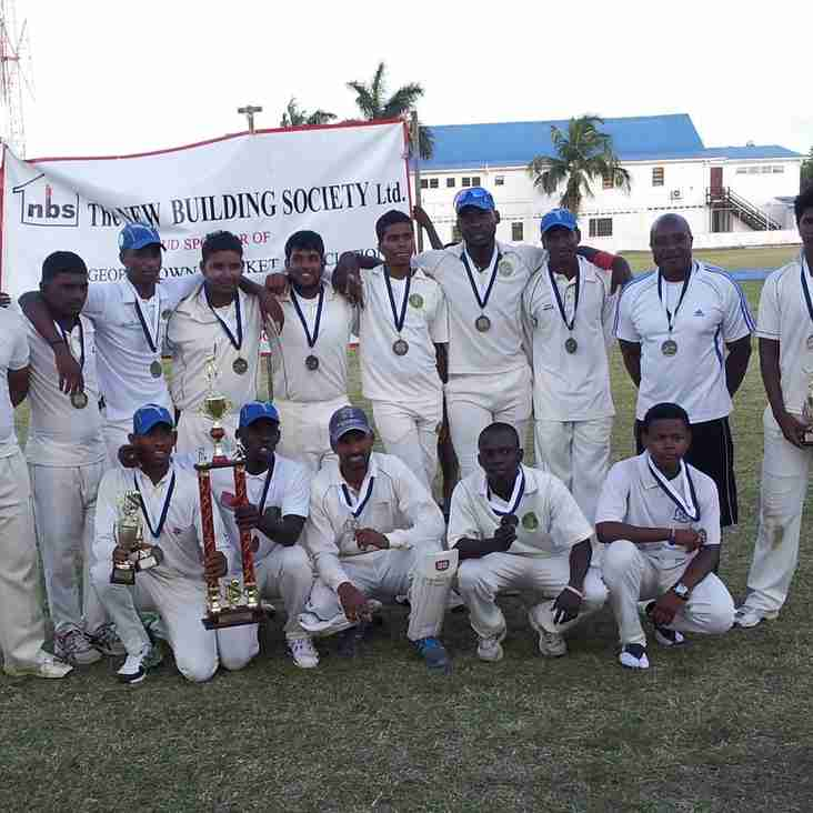 GEORGETOWN CRICKET CLUB ARE CHAMPIONS OF THE GCA – NEW BUILDING SOCIETY 40-OVERS 2ND DIVISION COMPETITION 2014-15.