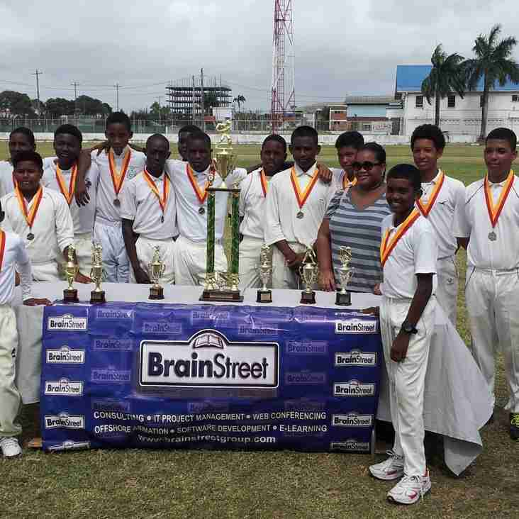 DEMERARA CRICKET CLUB ARE CHAMPIONS OF THE GCA – BRAINSTREET UNDER-15 COMPETITION ONCE AGAIN.