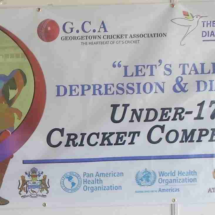 GCA - GUYANA DIABETIC ASSOCIATION, PAHO/WHO, MIN. of PUBLIC HEALTH, AMALGAMATED T&G CCU & ANSA McAL – TYPE ONE DIABETES U-17 CRICKET COMPETITION 2017.
