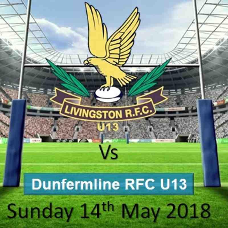 LRFC U13 v Dunfermline RFC U13: Sun 13th May 2018
