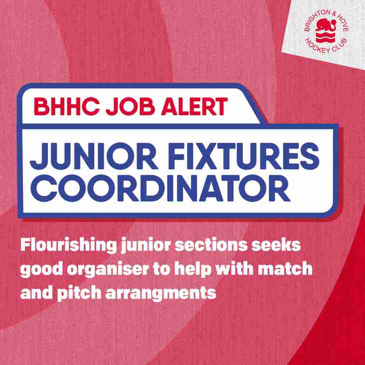 Junior Fixtures Coordinator required by BHHC