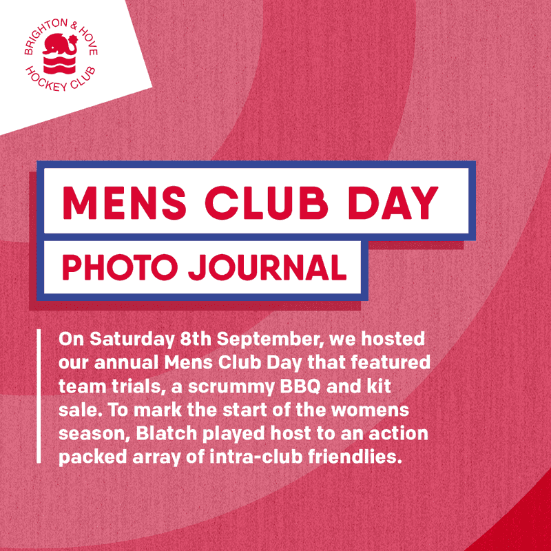 Men's Club Day - Saturday 8th September