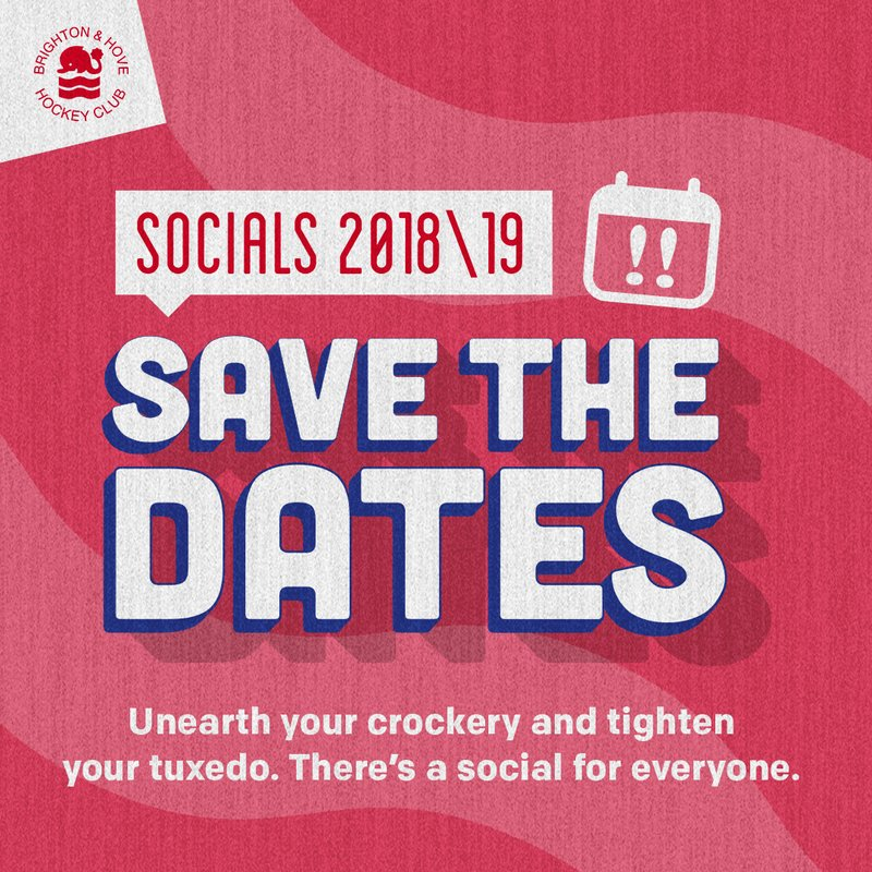 Social dates for the season released - save the dates!