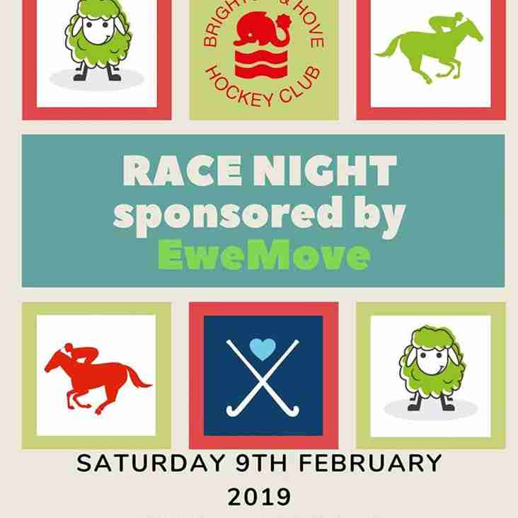Place your bets for BHHC Race Night
