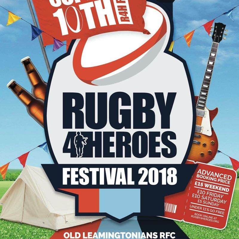 Rugby for Heroes 2018 Team registrations open and tickets for sale