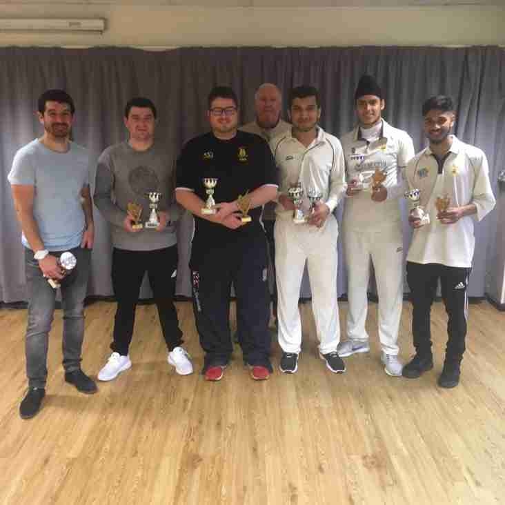 Indoor 1st team complete league/cup double