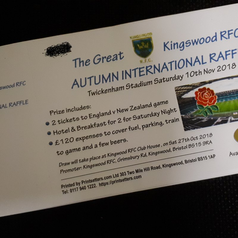 The Great Kingswood RFC Raffle