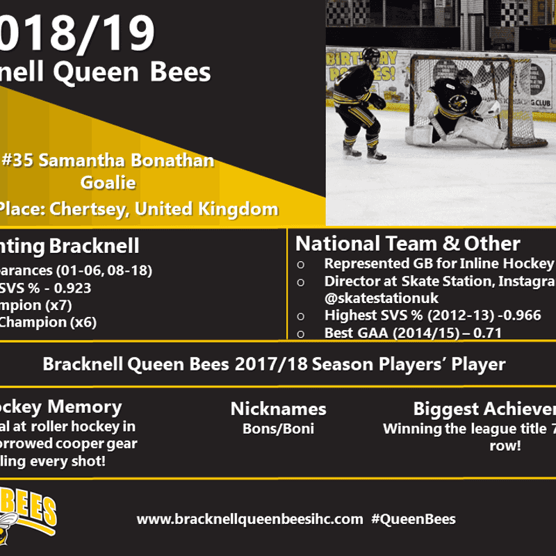 Queen Bees - Player Profiles 2018/19