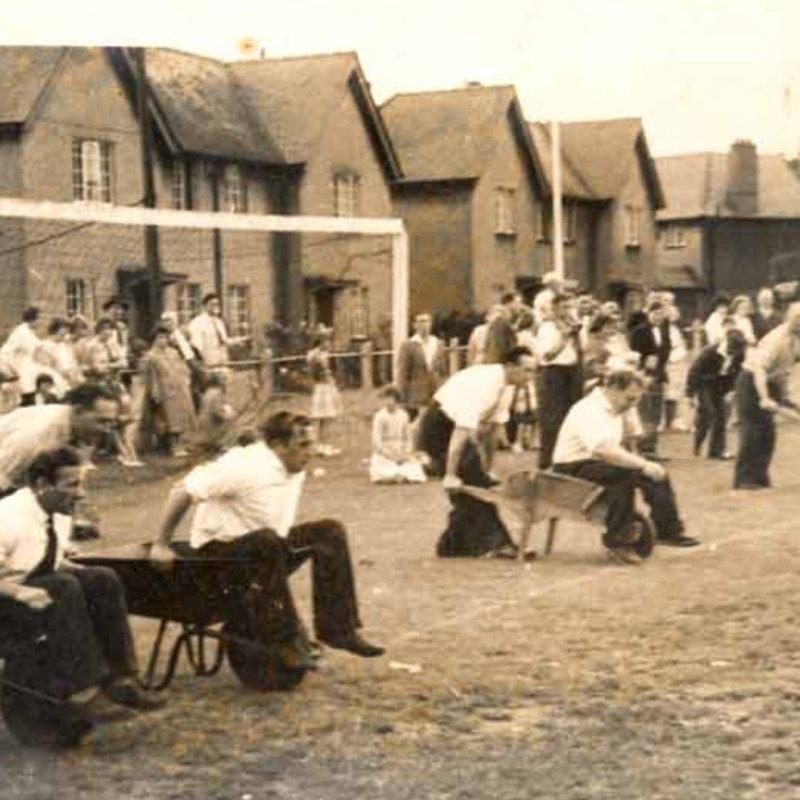 First annual wheel Barrow race