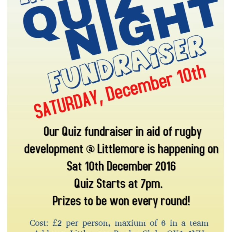 Littlemore rfc quiz night fundraiser