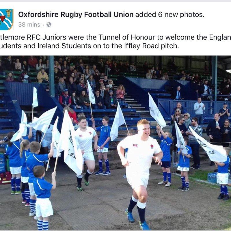 Littlemore juniors flag bearers