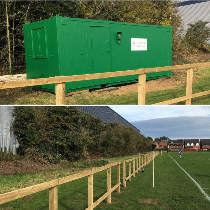 New fence and cabin pitch side