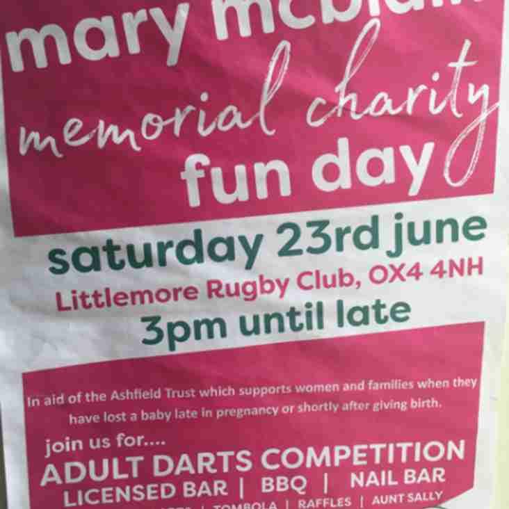 Mary Mcblain memorial charity fun day