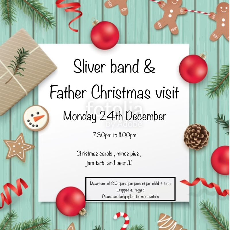 Annual sliver band & Santa visit