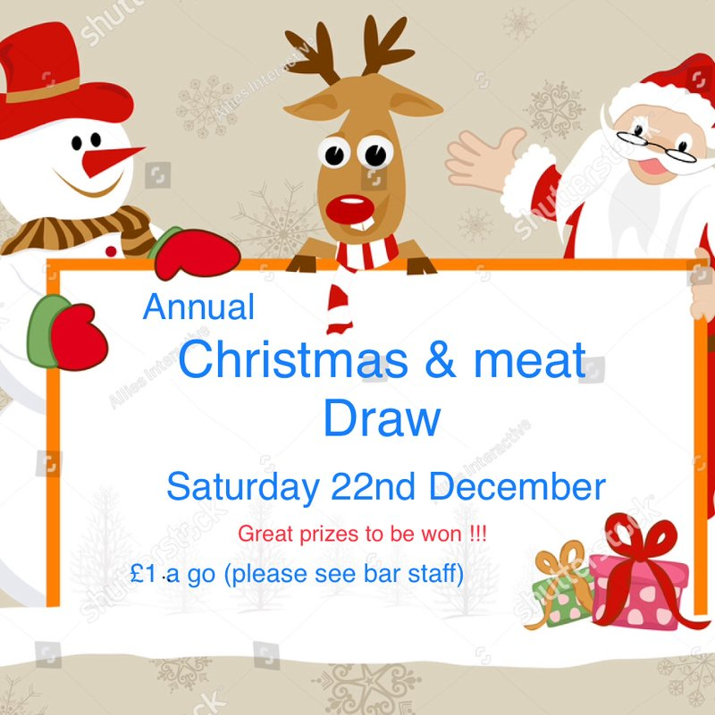 Christmas & meat draw