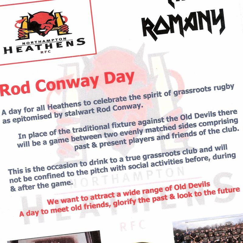Rod Conway Day / A Date For All Your Diaries!
